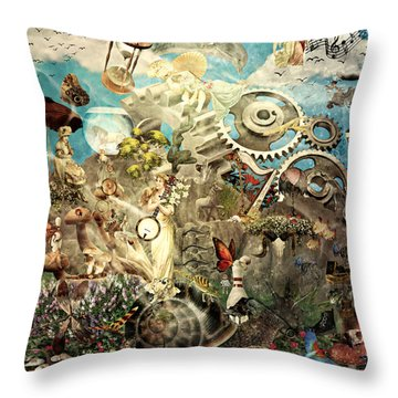 Lucid Dreaming Throw Pillow by Ally  White