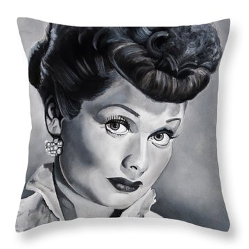 Lucille Ball Throw Pillow by Brian Broadway