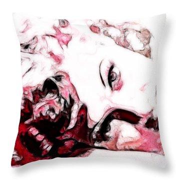 Lucille Ball Throw Pillow by D Walton