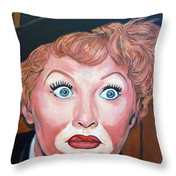 Lucille Ball Throw Pillow by Tom Roderick