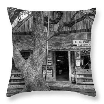 Luckenbach 2 Black And White Throw Pillow