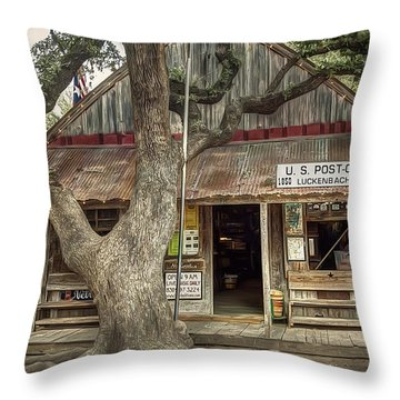 Luckenbach 2 Throw Pillow by Scott Norris