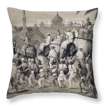 Lucknow, The Principal Street Throw Pillow by A Soltykoff