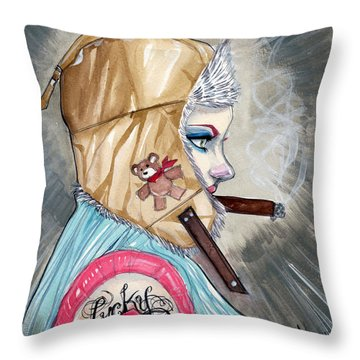 Lucky Bullet 13 Throw Pillow by Jimmy Adams