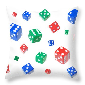 Lucky Dice Throw Pillow