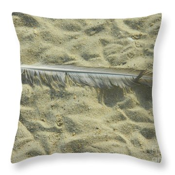 Throw Pillow featuring the photograph Lucky Feather by Emmy Marie Vickers