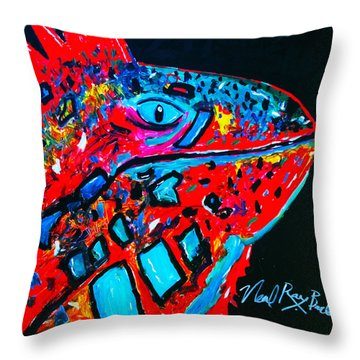 Lucky Iguana Throw Pillow