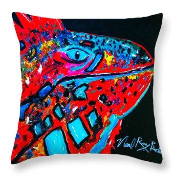 Lucky Iguana Throw Pillow