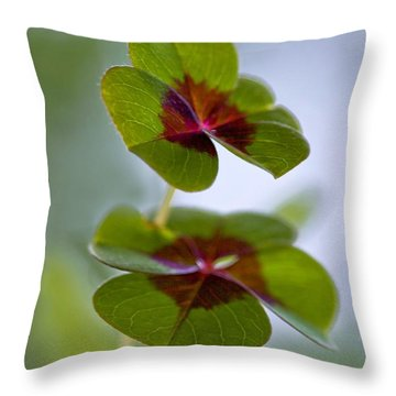 Lucky Lovers Throw Pillow by Maria Ismanah Schulze-Vorberg
