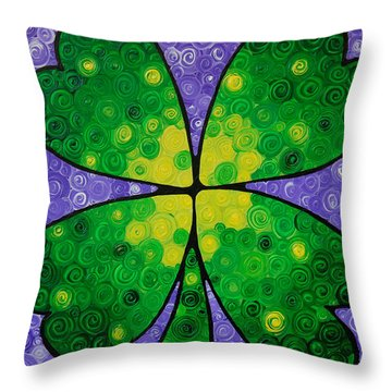 Lucky One Throw Pillow by Sharon Cummings