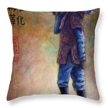 Lucky Red Boots Throw Pillow