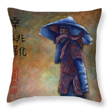 Lucky Red Boots Throw Pillow by Retta Stephenson
