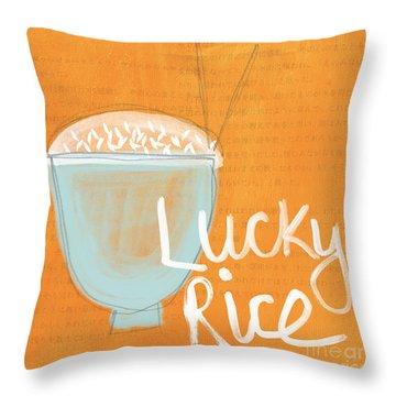 Lucky Rice Throw Pillow