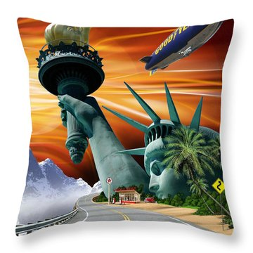 Lucky Star Throw Pillow