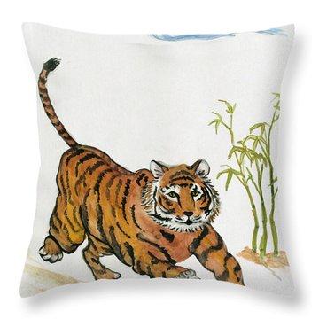 Lucky Tiger Throw Pillow