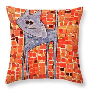Lucy Bleu Throw Pillow by Donna Howard