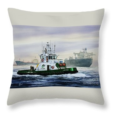 Lucy Foss Throw Pillow by James Williamson