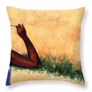 Lucie In Haiti Throw Pillow