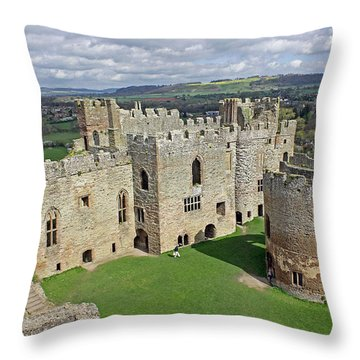 Ludlow Castle Chapel And Great Hall Throw Pillow