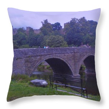 Throw Pillow featuring the photograph Ludlow Castle by John Williams