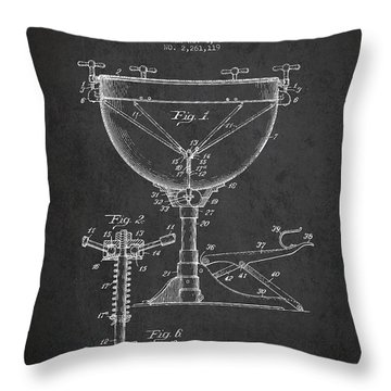 Ludwig Kettle Drum Drum Patent Drawing From 1941 - Dark Throw Pillow
