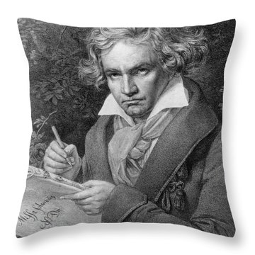 Ludwig Van Beethoven Throw Pillow