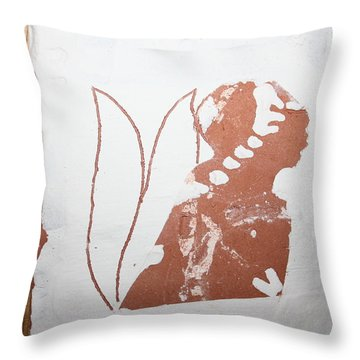 Luka - Tile Throw Pillow by Gloria Ssali