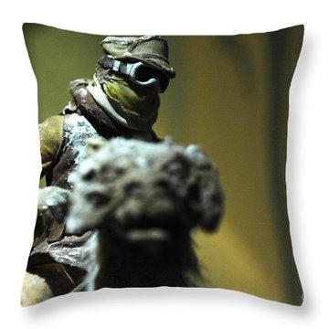 Luke On His Tawn Tawn 4 Throw Pillow by Micah May