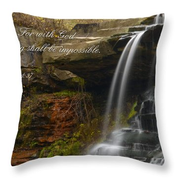 Luke Scripture Waterfall Throw Pillow