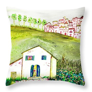 L'ultima Fatica Throw Pillow by Loredana Messina