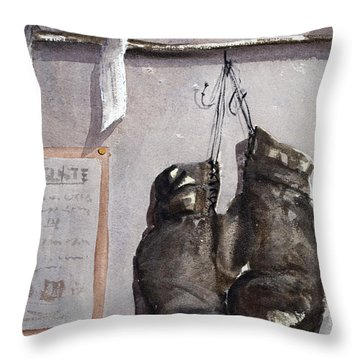 l'ultime combat Ultimate Combat Throw Pillow by Dominique Serusier