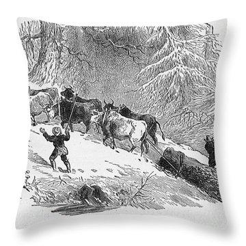 Lumbering - 1878 Throw Pillow