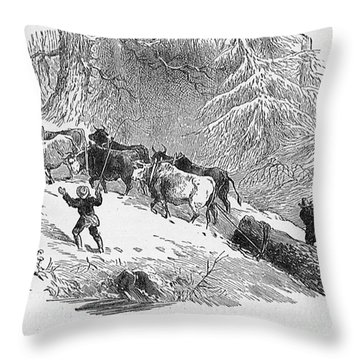 Lumbering - 1878 Throw Pillow