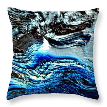 Throw Pillow featuring the digital art Lumenittoral by Richard Thomas