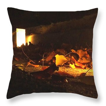 Throw Pillow featuring the photograph Luminaries by Andrea Anderegg