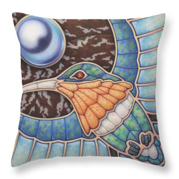 Luminosity - Study In Opal And Pearl Throw Pillow by Amy S Turner