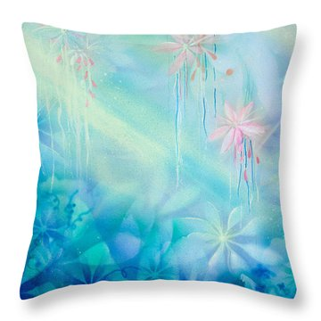 Luminous Garden Throw Pillow by Michelle Wiarda
