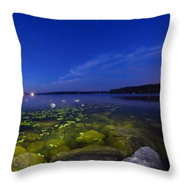 Luminous Lake Throw Pillow
