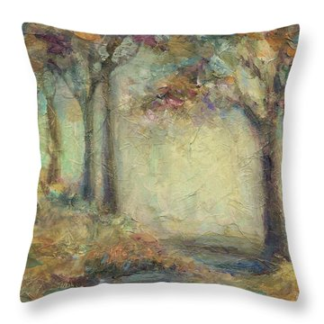 Throw Pillow featuring the painting Luminous Landscape by Mary Wolf