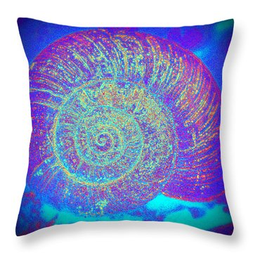 Luminous Snail  Throw Pillow by Kelly Nowak