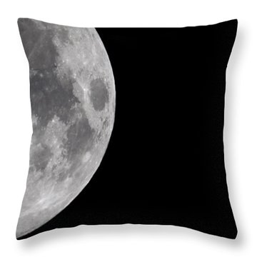 Throw Pillow featuring the photograph Luna And Jupiter by Jason Politte