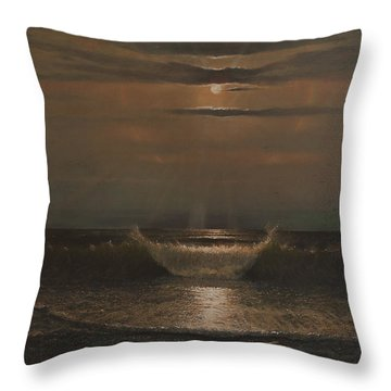 Lunar Apparition Throw Pillow by Blue Sky