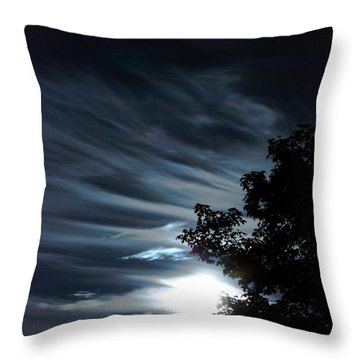 Lunar Art Throw Pillow by Optical Playground By MP Ray