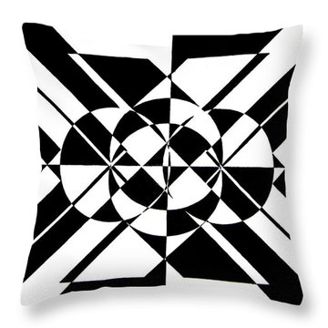 Lunar City Throw Pillow