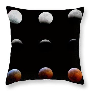 Lunar Eclipse Throw Pillow