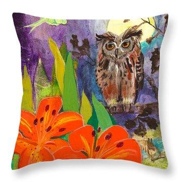 Lunar Enchantment Throw Pillow by Robin Maria Pedrero
