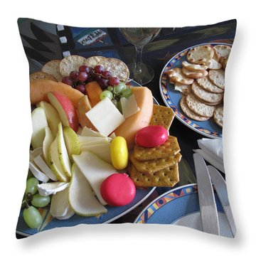 Lunch Throw Pillow by Barbara McDevitt
