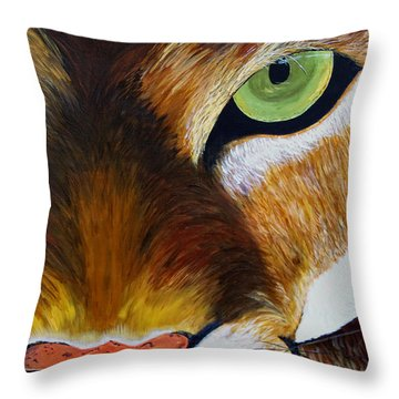 Lunch Throw Pillow by Donna Blackhall