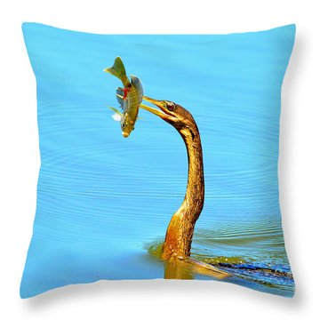 Lunch On The Spear Throw Pillow