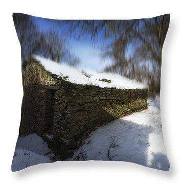 Throw Pillow featuring the photograph Luoghi Abandoned Villages On Winter Time - Inverno Nei Paesi Abbandonati 11 by Enrico Pelos